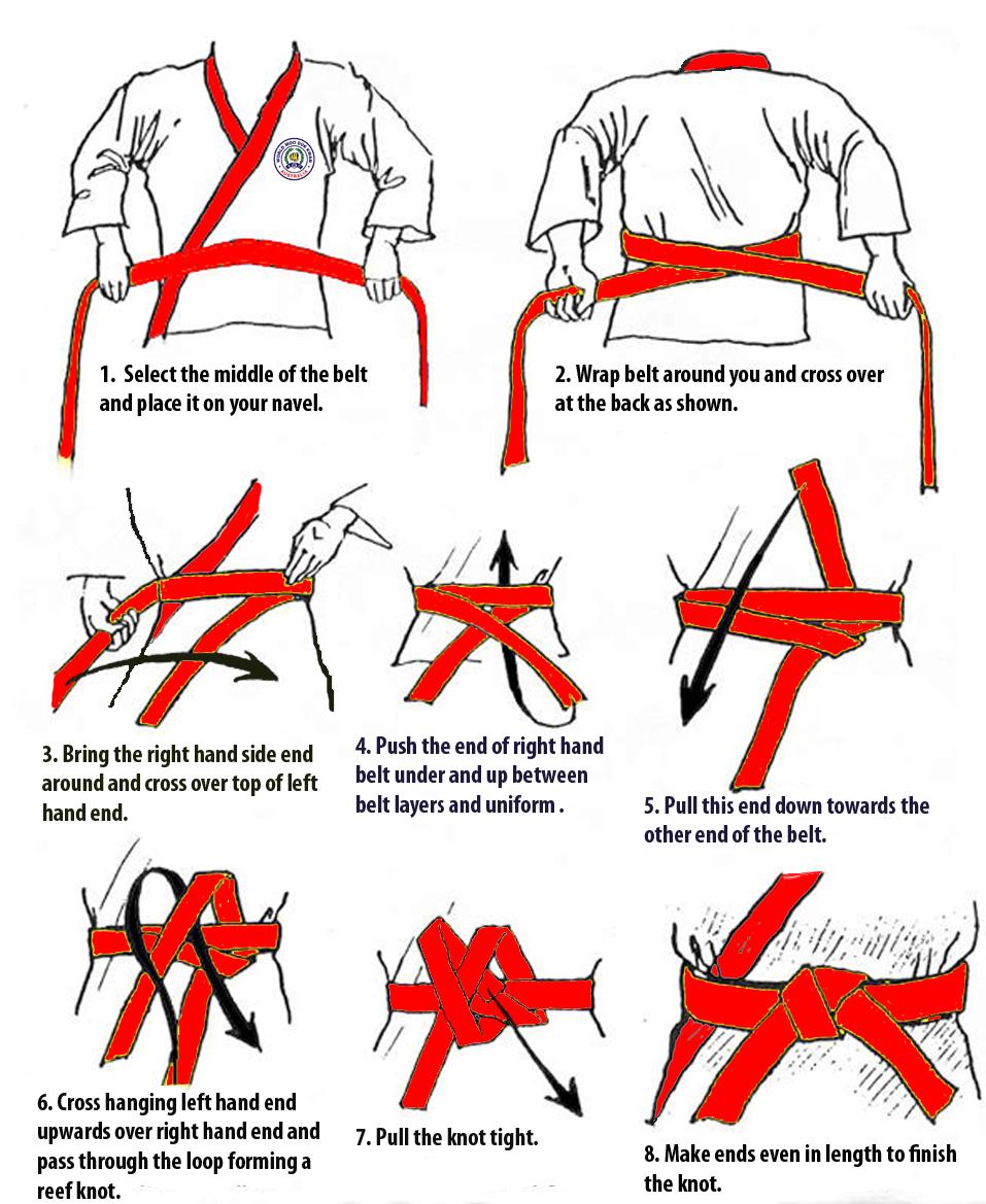 Как завязать пояс пошагово фото